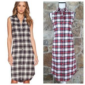 NWT Jenni Kayne S SMALL Plaid Flannel Shirt Dress